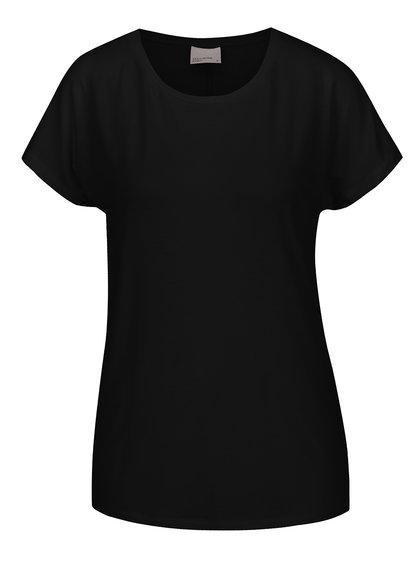 Černé basic tričko s krátkým rukávem VERO MODA Charly