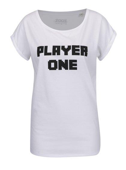 Tricou alb de damă ZOOT Originál Player one cu print