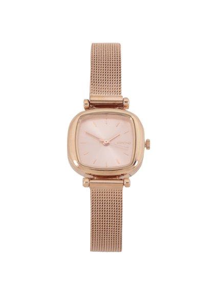 Dámské hodinky v růžovozlaté barvě s nerezovým páskem Komono Moneypenny Royale Silver