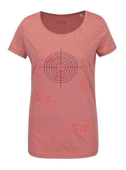 Tricou roșu căpșună cu imprimeu ZOOT Original de damă