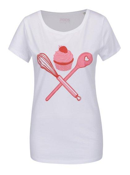 Tricou alb cu imprimeu ZOOT Original Cupcake de damă