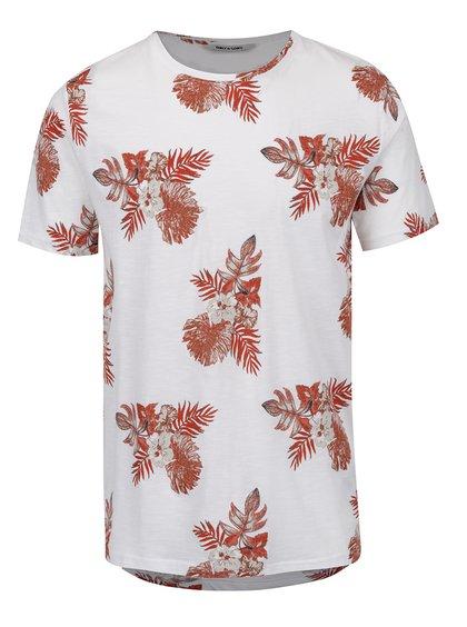 Bílo-červené květované triko ONLY & SONS That