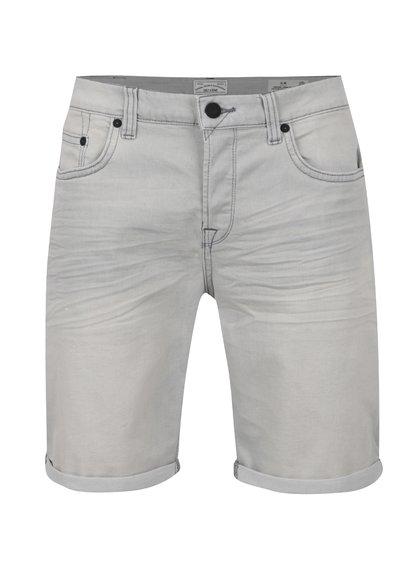Pantaloni scurți gri deschis Only & Sons Loom cu aspect prespălat