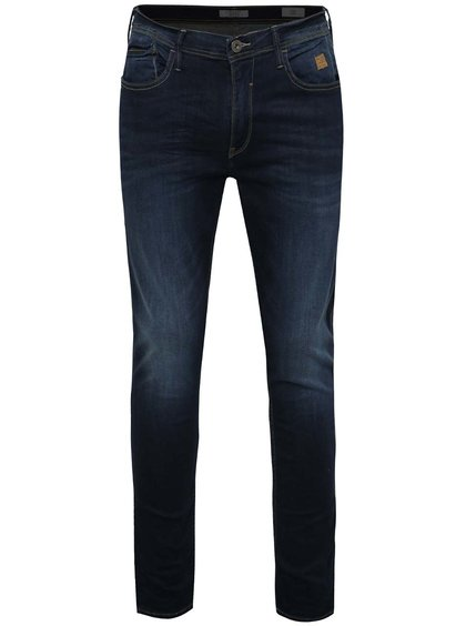 Modré skinny džíny s vyšisovaným efektem Blend