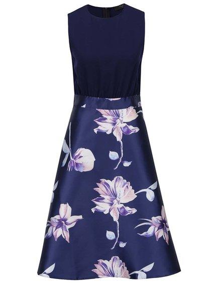 Rochie albastru închis AX Paris cu imprimeu floral