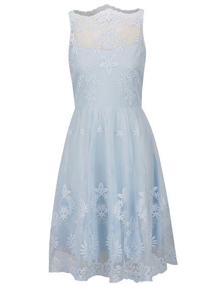 Světle modré krajkové šaty AX Paris