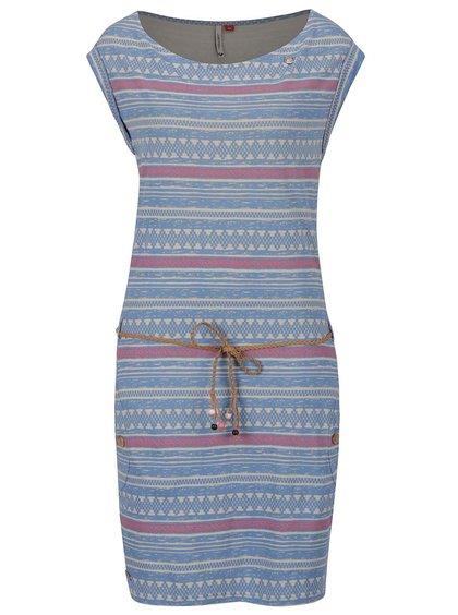 Modré pruhované šaty Ragwear Tag Embro