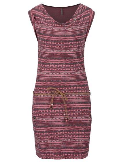 Růžové pruhované šaty Ragwear Tag Embro