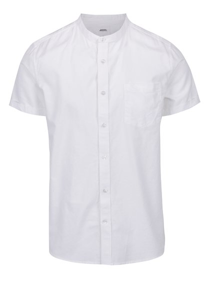 Cămașă albă cu mâneci scurte Burton Menswear London