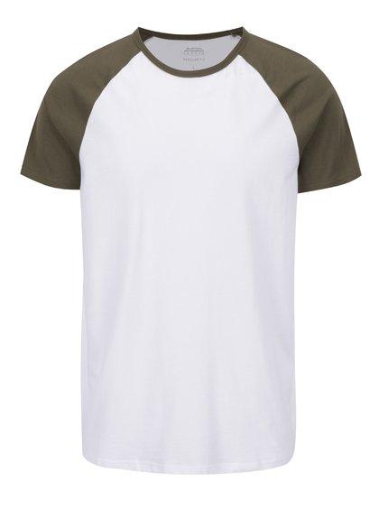 Zeleno-bílé triko Burton Menswear London