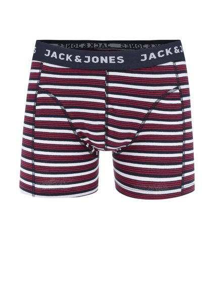 Červené pruhované boxerky Jack & Jones Calya