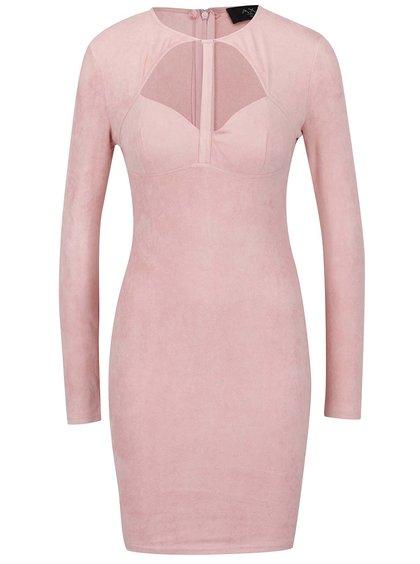Rochie roz pal AX Paris cu decupaj