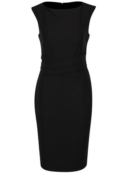 Černé pouzdrové šaty bez rukávů Dorothy Perkins