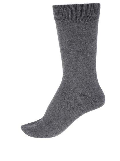 Sada tří párů ponožek v šedé barvě Selected Homme Cotton