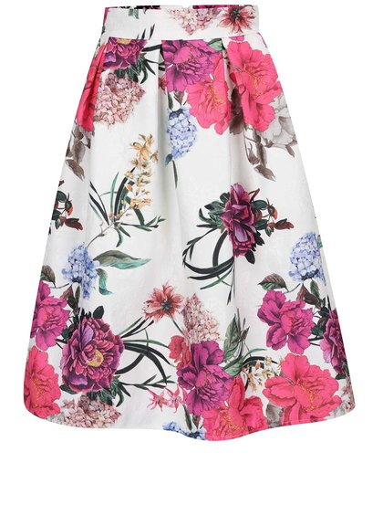 Fustă crem Haily´s SIlly cu model floral