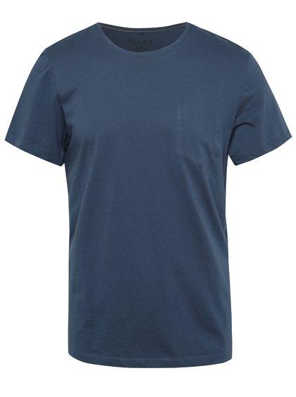 Tmavě modré regular fit triko s imitací náprsní kapsy Blend