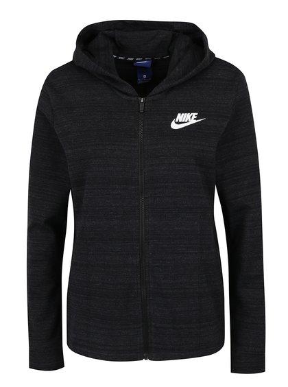 Hanorac negru melanj Nike pentru femei