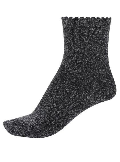 Šedé třpytivé ponožky Pieces Sebby