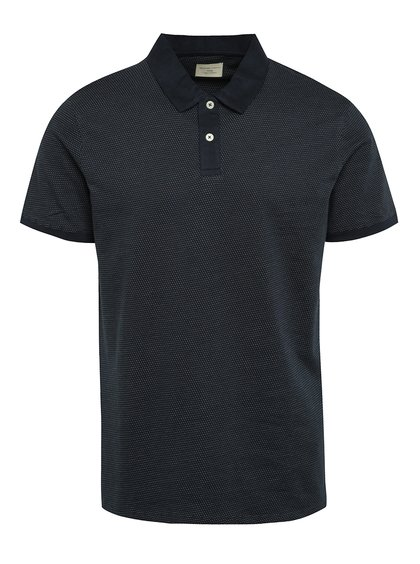 Tricou polo bluemarin Selected Homme Summer cu model discret