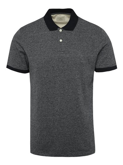 Tricou polo bluemarin Selected Homme Lau