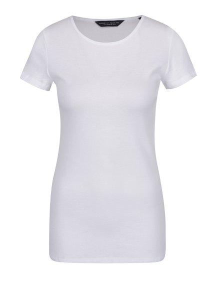 Bílé basic tričko s krátkým rukávem Dorothy Perkins Tall