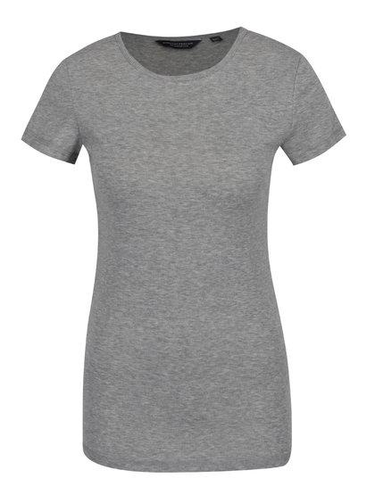 Šedé basic tričko s krátkým rukávem Dorothy Perkins Tall