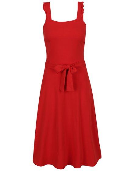 Červené šaty bez rukávů Dorothy Perkins Tall