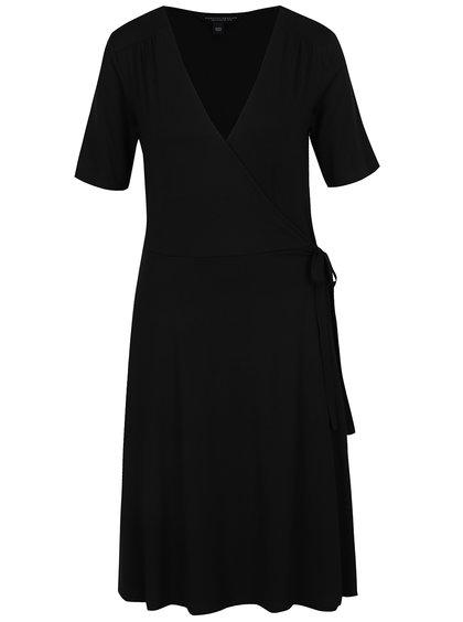 Rochie neagră Dorothy Perkins Tall cu croi suprapus