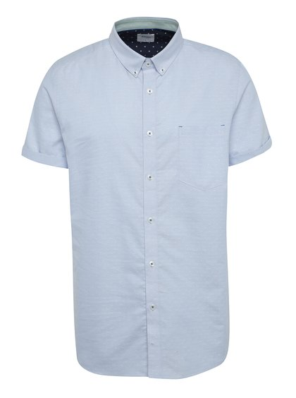 Světle modrá vzorovaná košile s krátkým rukávem Burton Menswear London