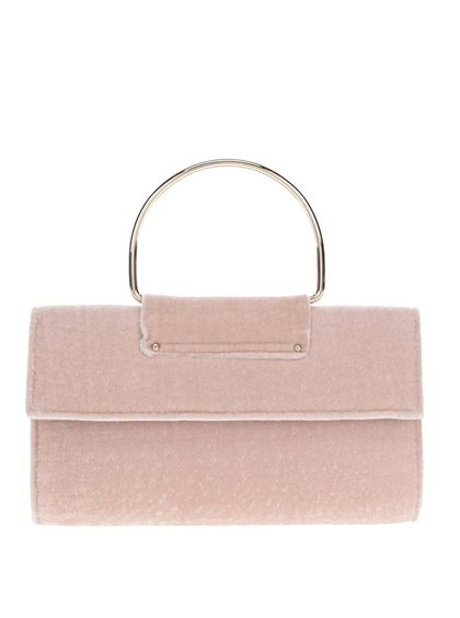 Geantă tip plic roz pal  Miss Selfridge