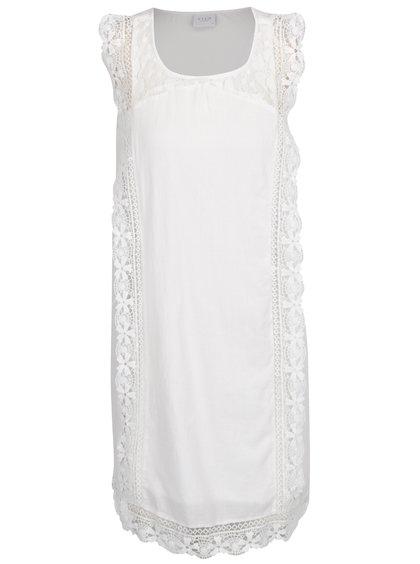 Bílé šaty s krajkovými detaily VILA Redition