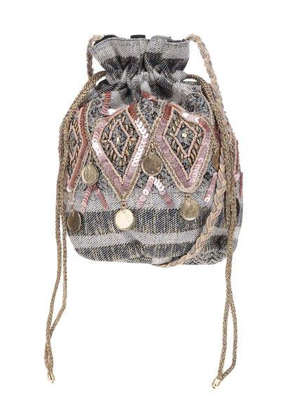 Geantă sac Miss Selfridge cu model în dungi