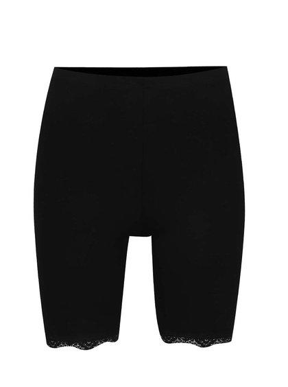 Pantaloni scurți elastici negri Miss Selfridge
