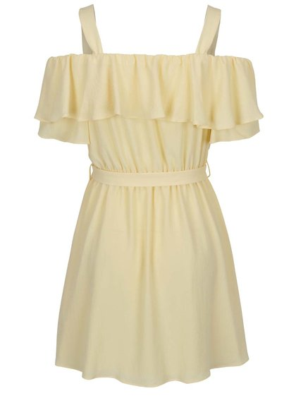 Žluté šaty s průstřihy na ramenou Miss Selfridge