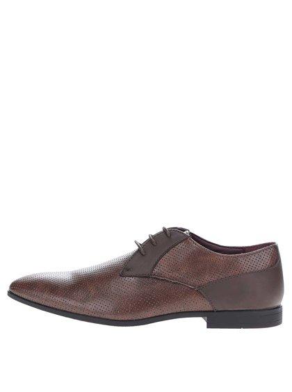 Pantofi maro Burton Menswear London cu perforații