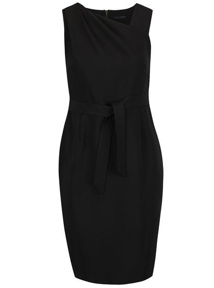 Černé šaty se zipem ve zlaté barvě na zádech Dorothy Perkins Curve
