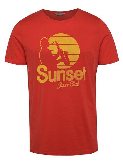 Červené triko s potiskem Jack & Jones Coston