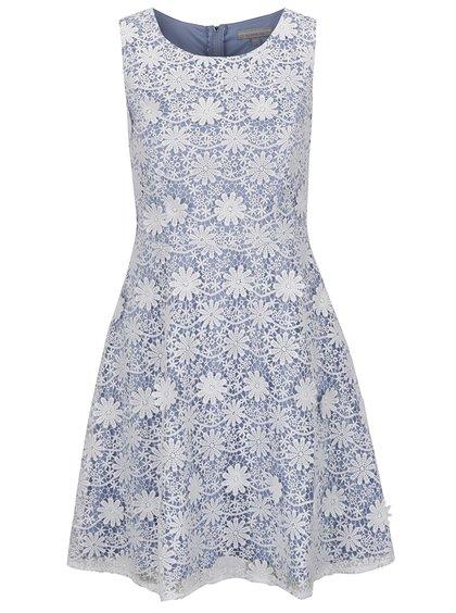 Modro-krémové krajkové šaty Dorothy Perkins Petite