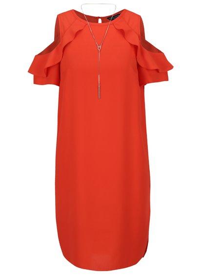 Rochie roșie Dorothy Perkis cu decupaj pe umeri