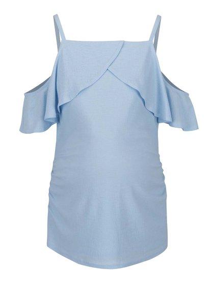 Top bleu Dorothy Perkins  Maternity cu volan amplu