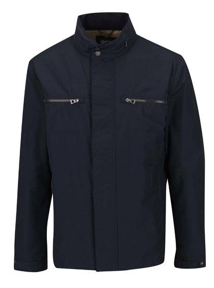 Tmavě modrá pánská bunda se skrytou kapucí Geox