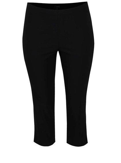 Pantaloni trei sfeturi negri Ulla Popken cu talie elastică