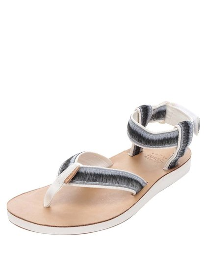 Hnědo-šedé žíhané dámské sandály Teva