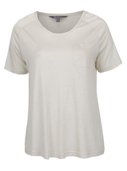 Krémové tričko s kapsou Ulla Popken