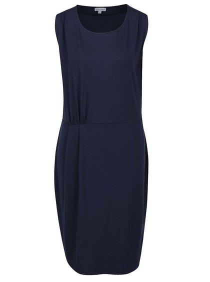 Tmavě modré šaty bez rukávů Gina Laura