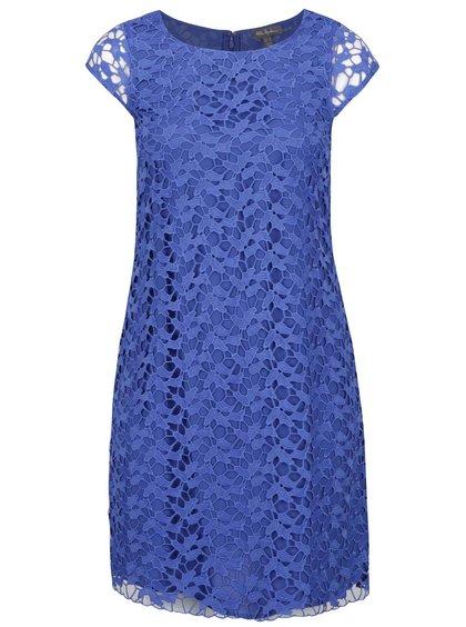 Modré krajkové šaty s krátkým rukávem Ulla Popken