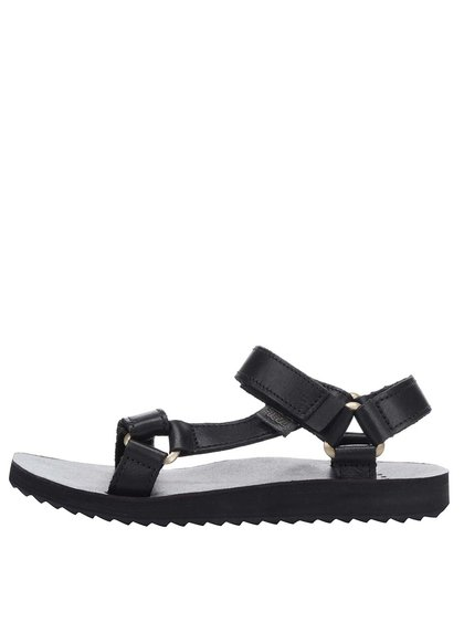 Černé dámské kožené sandály Teva