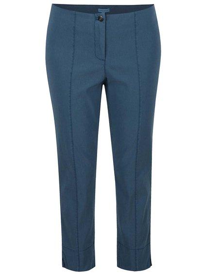 Pantaloni albastru petrol Gina Laura cu croi slim fit