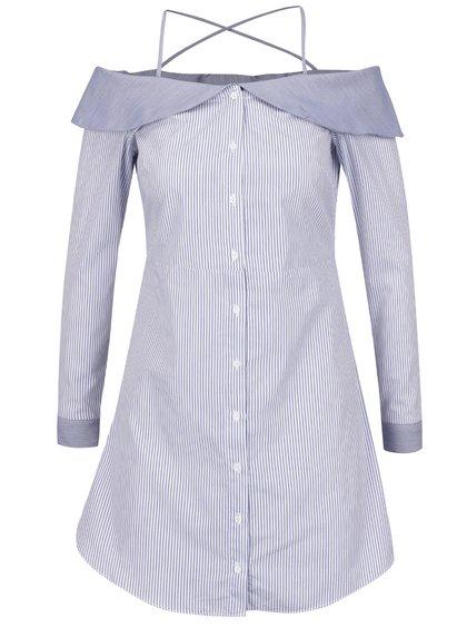 Bluză crem & albastru TALLY WEiJL cu model în dungi
