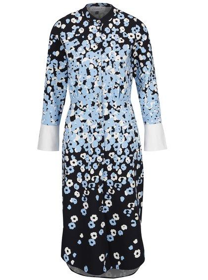 Rochie negru&bleu Closet cu imprimeu floral